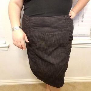 Torrid dark grey denim pencil skirt